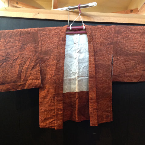 羽織(袷)  ANTIQUE  HAORI  AH-695  USED,Silk