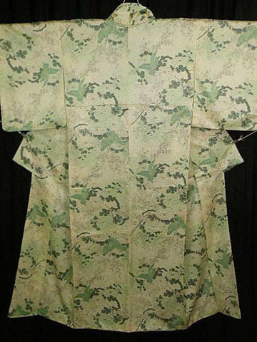 アンティーク着物 小紋 化繊 ANTIQUE KIMONO (USED)  AK-008 TYPE: AWASE, KOMON