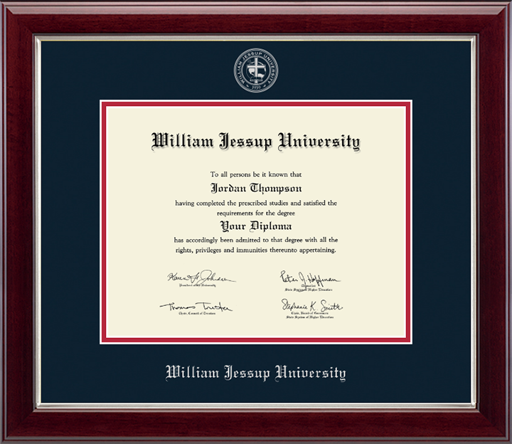 Church Hill Silver Embossed Diploma Frame