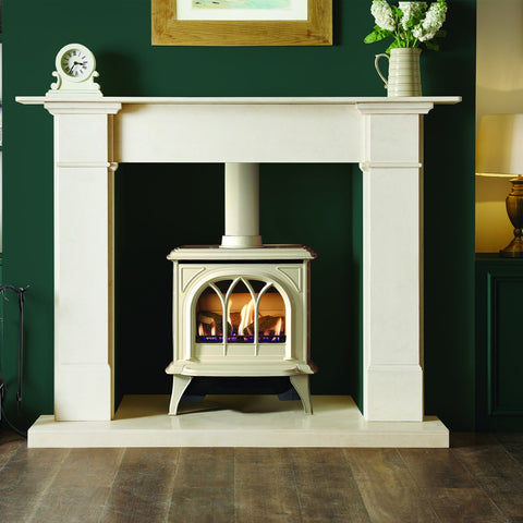Gazco Huntingdon 30 (Ivory Enamel) Traditional Gas Stove