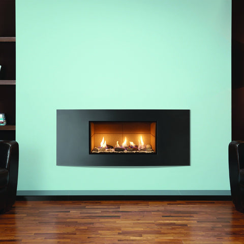 Gazco Studio 1 Glass-Fronted Gas Fire - Pebble & Stone Effect