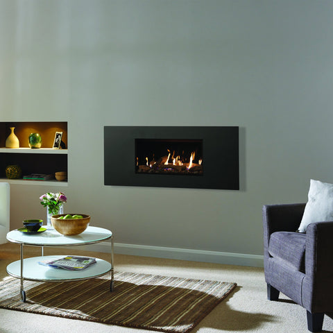 Gazco Studio 1 Glass Fronted Gas Fire - Log Effect