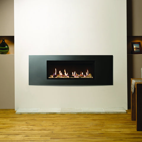 Gazco Studio 2 Glass-Fronted Gas Fire - Pebble & Stone Effect