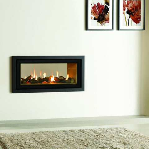 Gazco Studio 2 Duplex Profil Front Double-Sided Gas Fire