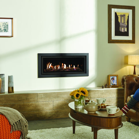 Gazco Studio 2 Glass-Fronted Gas Fire - Log Effect