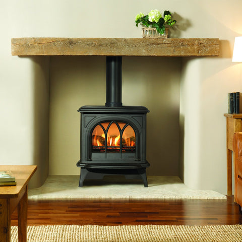 Gazco Huntingdon 30 (Matte Black) Traditional Gas Stove