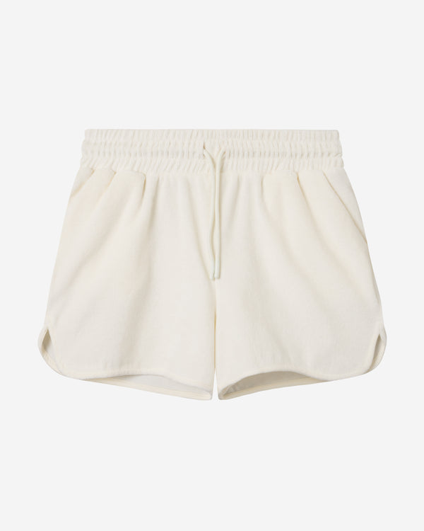 Terry Low Shorts Off White