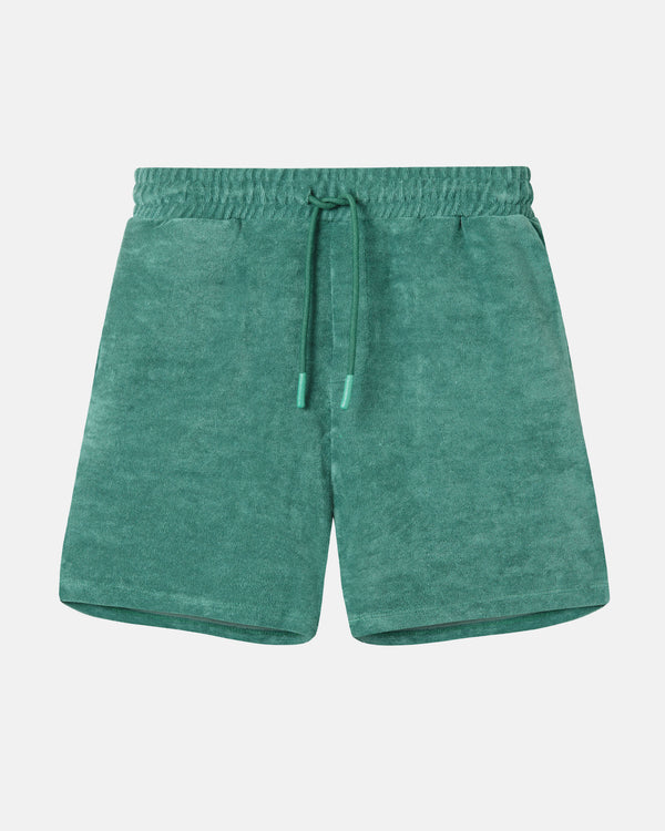 "Green terry towelling shorts ""Terry Shorts Green"" from Nikben"