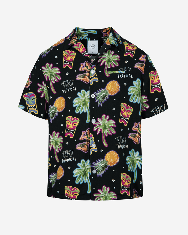 Multicolor printed short sleeve vacation shirt