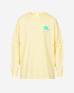 Yellow long sleeve t-shirt with green print