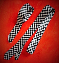 Load image into Gallery viewer, Black & White Chequered Tie