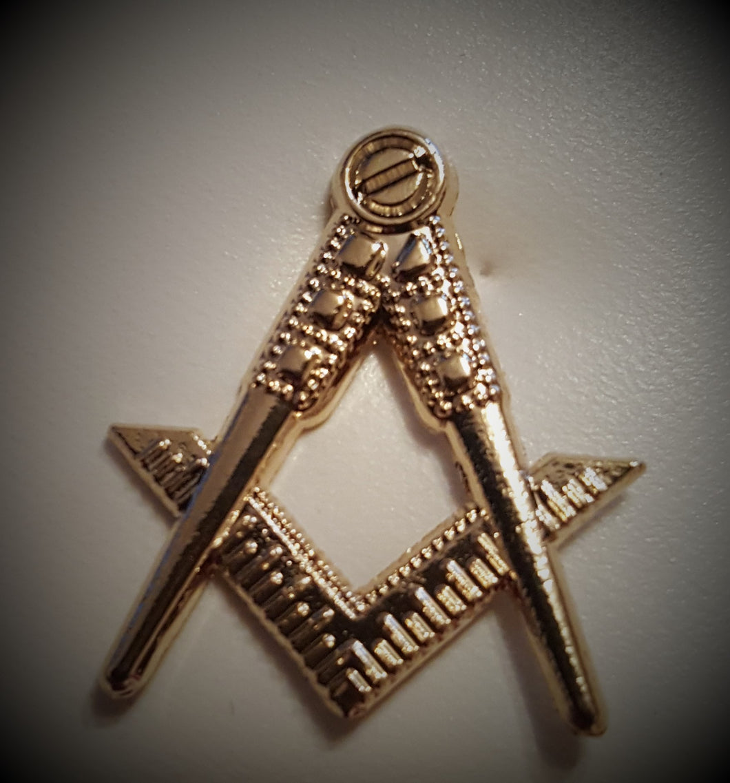 Square & Compasses Tie/Lapel Pin