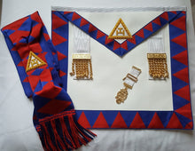 Load image into Gallery viewer, Royal Arch/Chapter Apron Sash and Jewel (lambskin)