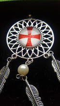 Load image into Gallery viewer, Knights Templar Themed Dream Catcher Pendant