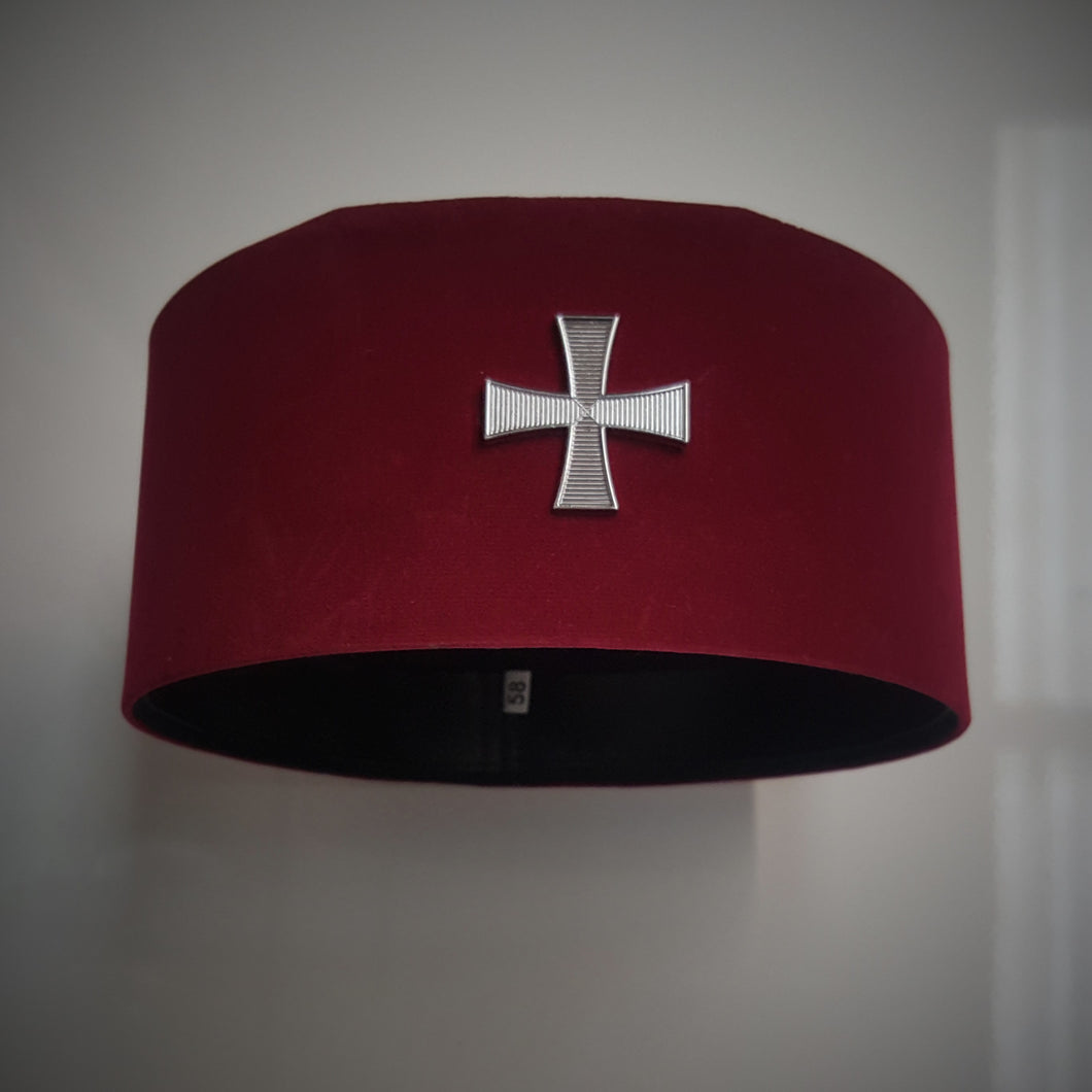 Knights Templar Cap With Badge