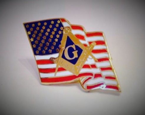 American Flag Masonic Pin