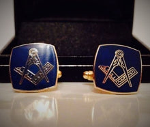 Load image into Gallery viewer, Masonic Gold Plated Cufflink