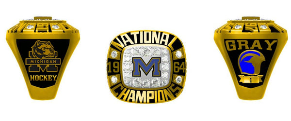Michigan Wolverines 1964 Hockey Ring