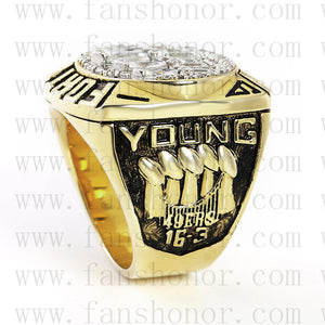Customized San Francisco 49ers NFL 1994 Super Bowl XXIX Championship Ring
