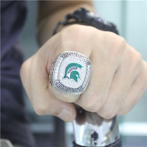 Custom Michigan State Spartans 2013 Season Rose Bowl And Big Ten Champions Ring
