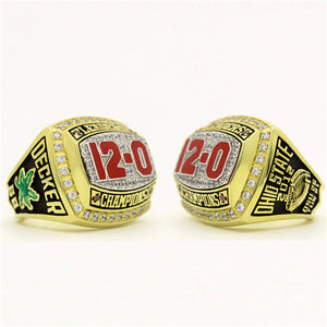 "Custom Ohio State Buckeyes 2012 ""12-0"" Leaders Championship Ring"