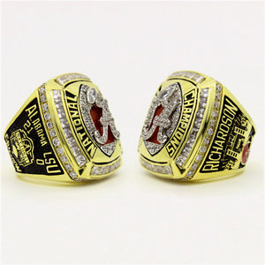 Custom Alabama Crimson Tide 2011 Season BCS National Championship Ring
