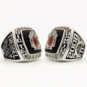 Custom OSU Ohio State Buckeyes 2008 Big Ben Championship Ring With Red Rubies