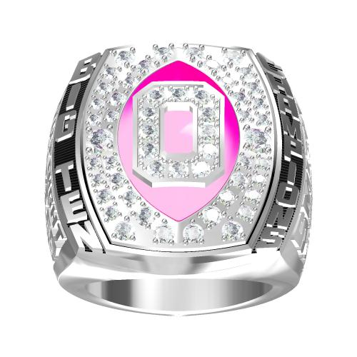 Custom OSU Ohio State Buckeyes 2006 Big Ten Championship Ring With Red Ruby