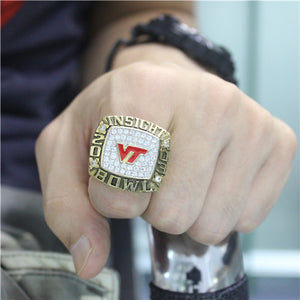 Custom Virginia Tech Hokies 2003 Insight Bowl Championship Ring
