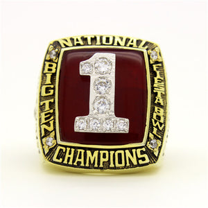 Custom OSU Ohio State Buckeyes 2002 National Championship Ring
