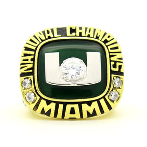 Custom Miami Hurricanes 2001 National Championship Ring