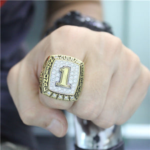 Custom Oklahoma Sooners 2000 National Championship Ring