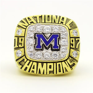Custom Michigan Wolverines 1997 National Championship Ring