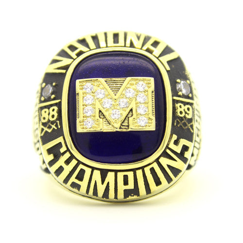 Custom Michigan Wolverines 1989 National Championship Ring