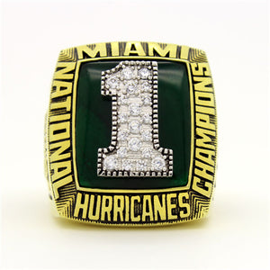Custom Miami Hurricanes 1989 National Championship Ring