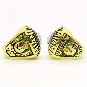 Custom Miami Hurricanes 1987 National Championship Ring