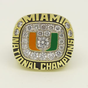 Custom Miami Hurricanes 1991 National Championship Ring