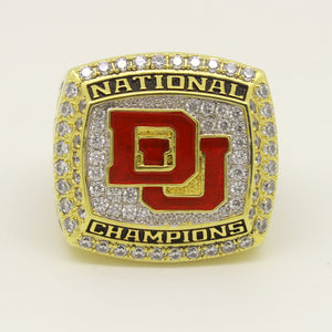 Custom Denver Pioneers 2015 Lacrosse National Championship Ring