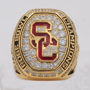 USC Trojans 2017 Rose Bowl Championship Ring With Red Ruby