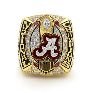 Custom Alabama Crimson Tide 2015 National Championship Ring With Red Rubies