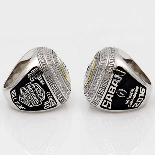 Custom Alabama Crimson Tide 2015 Season College Football Playoff National Championship Ring