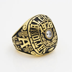 Alabama Crimson Tide 1978 National Championship Ring