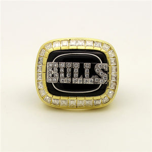 Chicago Bulls 1992 NBA Finals National Basketball World Championship Ring With Black Obsidian