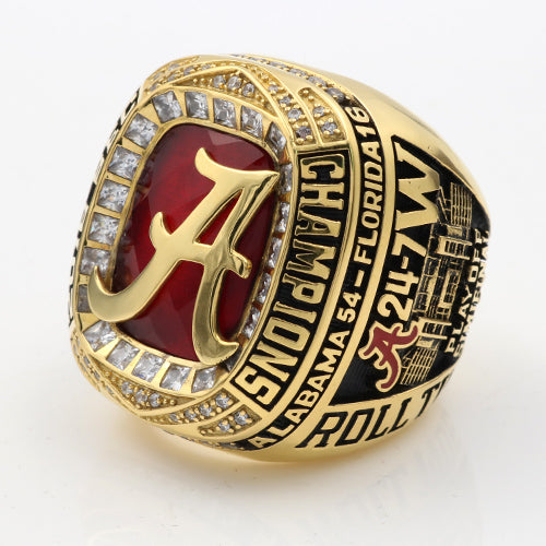 Alabama Crimson Tide 2016 SEC Championship Ring With Red Ruby