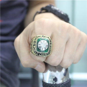 Boston Celtics 1969 NBA Finals National Basketball World Championship Ring With Green Chrysoprase