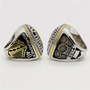 San Francisco Giants 2014 World Series MLB Championship Ring 18K Gold Platinum Plating
