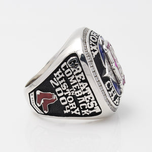 Boston Red Sox 2004 World Series MLB Championship Ring With Synthetic Sapphire And Red Ruby