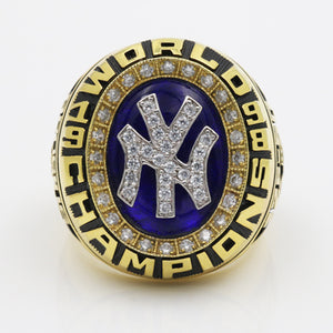 New York Yankees 1998 World Series MLB Championship Ring With Synthetic Sapphire