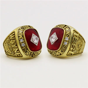 Minnesota Twins 1991 World Series MLB Championship Ring With Red Ruby