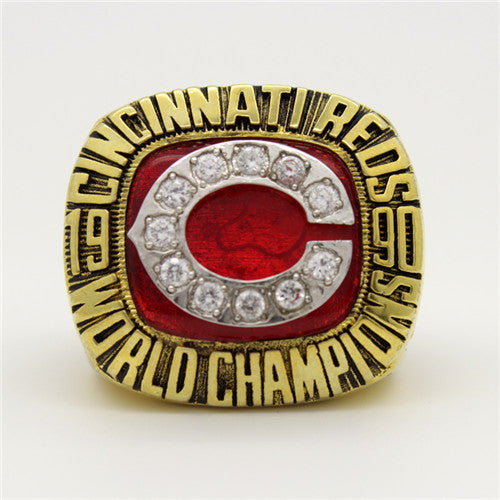 Cincinnati Reds 1990 World Series MLB Championship Ring With Red Ruby